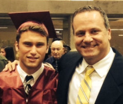 Brian Waller, class of 1990, with his son George, class of 2014